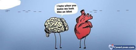 Love Heart And Brain  Facebook Covers