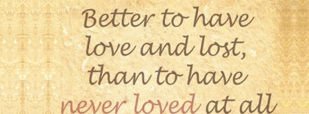 Love And Lost  Facebook Covers