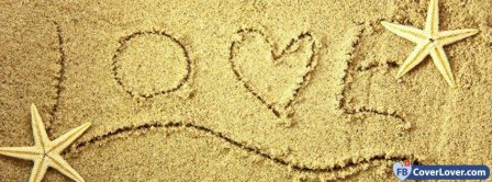 Love In Sand Facebook Covers