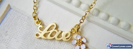 Love Pendant Gold  Facebook Covers