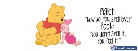 Love Piglet And Pooh  Facebook Covers
