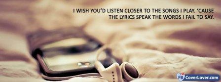Lyrics Speak The Words  Facebook Covers