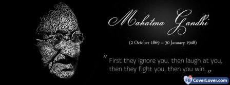 Mahatma Gandhi Quote Facebook Covers