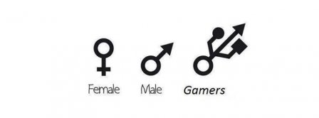 Male Female Gamers Facebook Covers