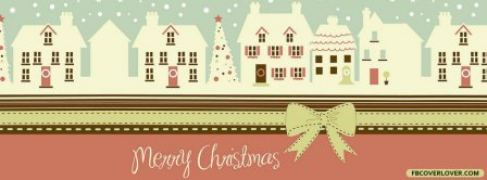Merry Christmas Houses Facebook Covers