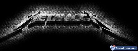 Metallica Black Metal Logo Facebook Covers