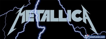 Metallica Logo With Lightennings Facebook Covers