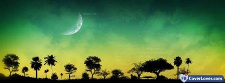Digital Moon Facebook Covers