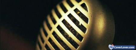 Old Music Microphone Facebook Covers
