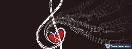 Music Heart Shaped Note  Facebook Covers