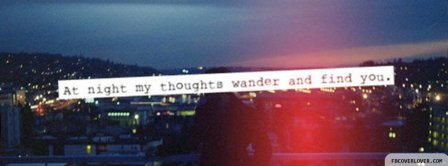 My Thoughts Wander Facebook Covers