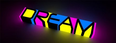 Neon Dream Color  Facebook Covers