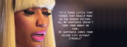 Nicki Minaj Happiness Quote Facebook Covers