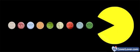 Pacman On Pills  Facebook Covers