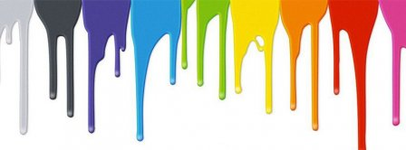 Paint Flowing Facebook Covers