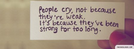 People Cry Facebook Covers