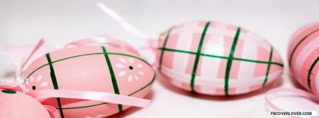 Pink Easter Eggs Facebook Covers