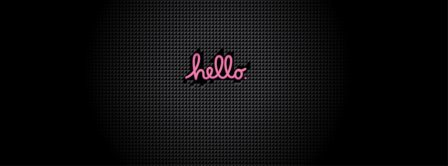 Pink Hello Facebook Covers