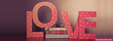 Pink Love Letters And Books Facebook Covers