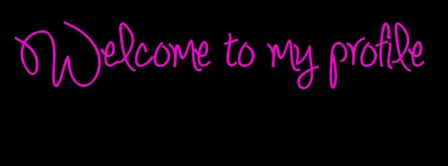 Pink Welcome Facebook Covers