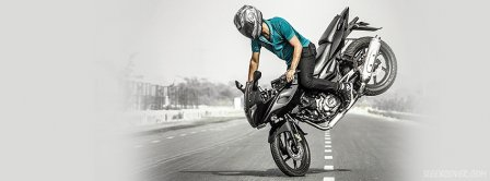 Pulsar Stoppie Facebook Covers
