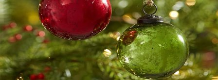 Red Green Mercury Glass Ball Ornaments Set Of Facebook Covers