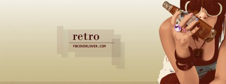 Retro Style Girl Facebook Covers