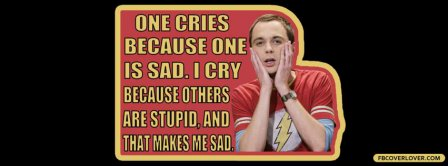 Sheldon Cooper Quote Facebook Covers