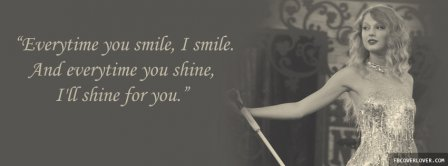 Shine For You Taylor Swift Facebook Covers