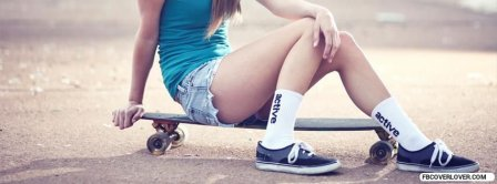 Skateboarding Girl Facebook Covers