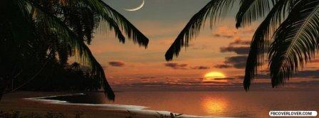 Sunset Beach Romantic Facebook Covers