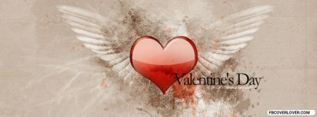 Valentine Heart Angel Wings Facebook Covers