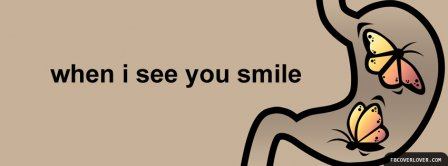 When I See You Smile Facebook Covers