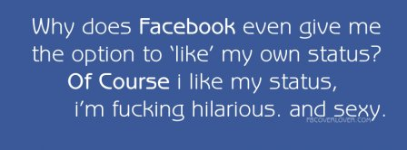 Like my own status Facebook Covers