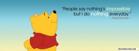 Winnie The Pooth Mind Facebook Covers