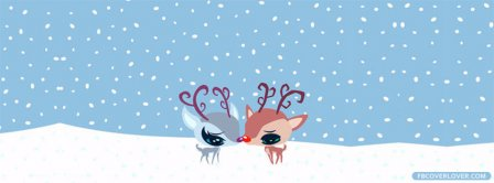 Winter Love Deers Facebook Covers