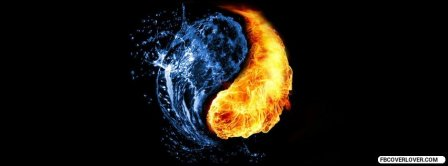 Yin And Yang Or Water And Fire  Facebook Covers